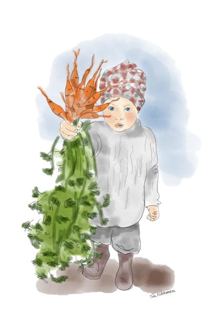 Porkkanat ja lapsi